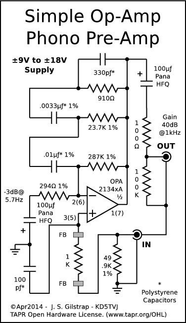 Phono Preamp Circuit Diagram | High Performance Phono Preamps
