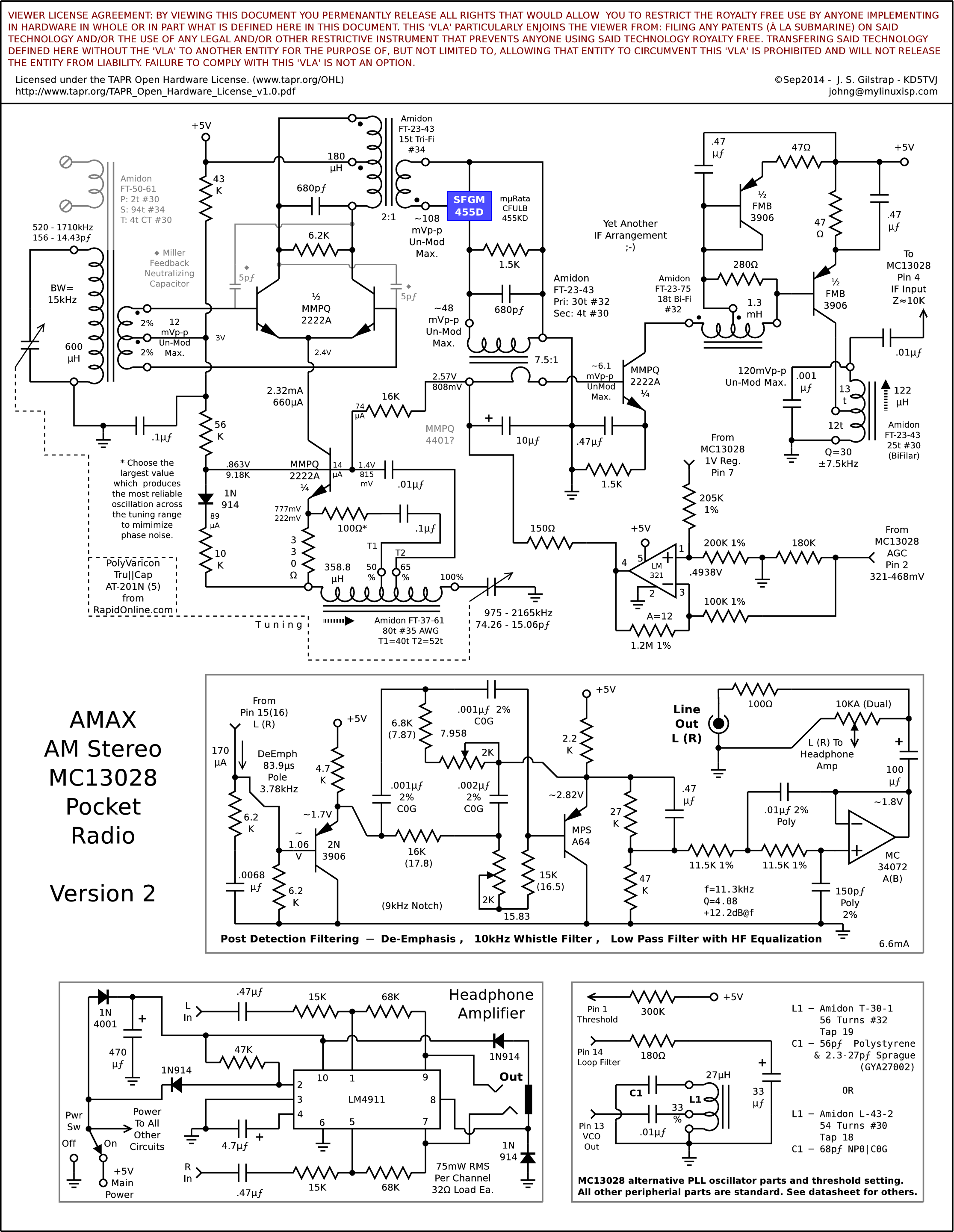 The Am Stereo Tech Zone Boosting Output Power Of Low Fm Broadcast Band Exciters Is Here Mc13028 Pocket Radio Version 3 Using A Quad Lower Op Amp In Post Filter Section Audio Response And Spreadsheet To Calculate It