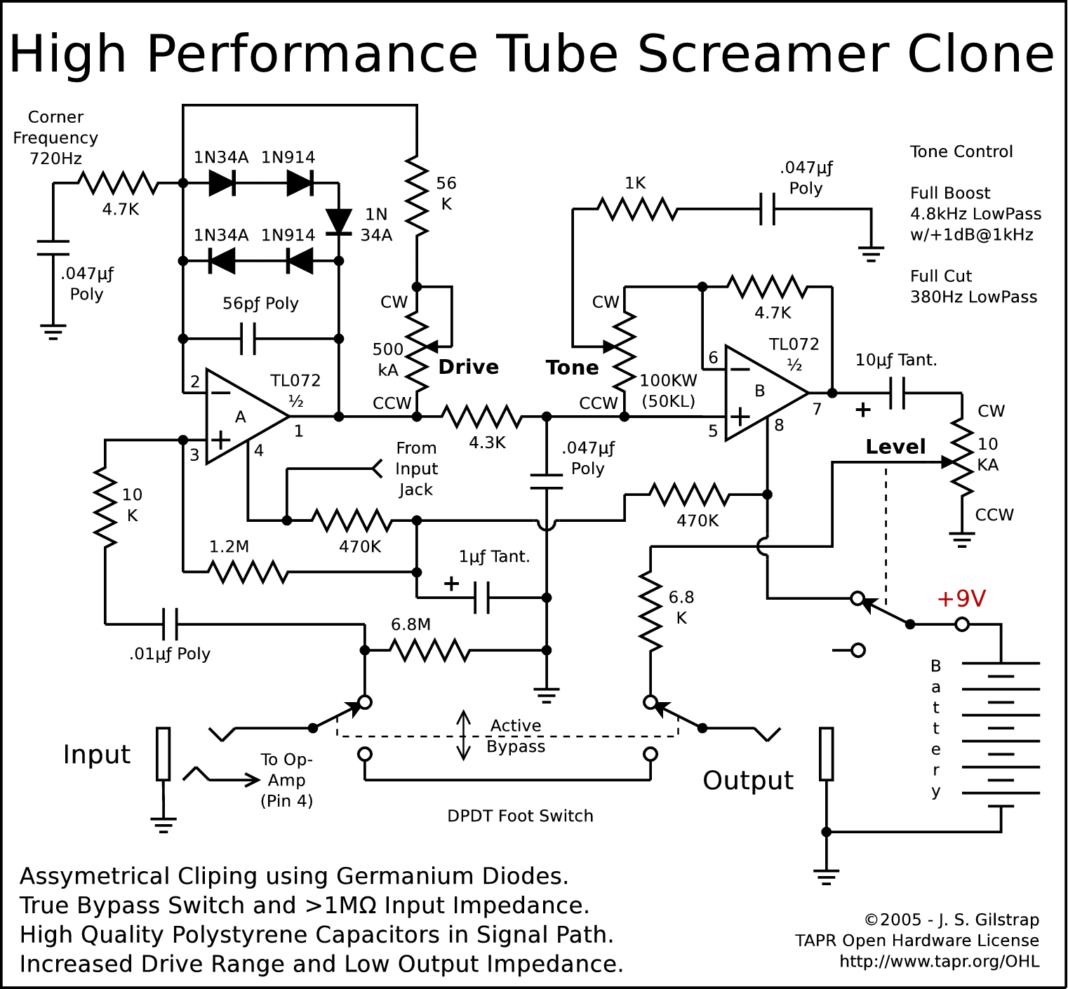 Schematics Tube Screamer Schematic on